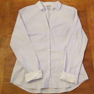 H&M blue and white long sleeved button up